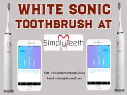 White Sonic Toothbrush At Simplyteeth Online ltd