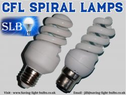 CFL Spiral Lamps At Saving Light Bulbs