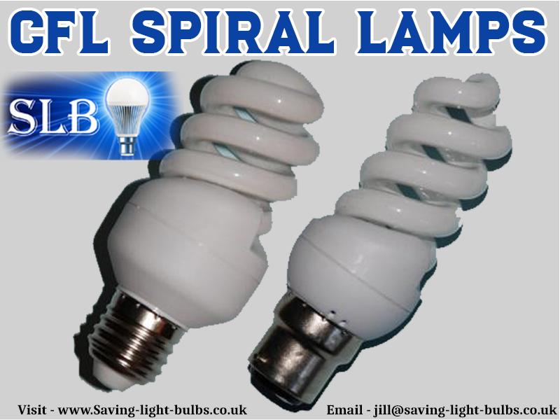 CFL Spiral Lamps At Saving Light Bulbs