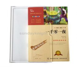 Acrylic book slipcase, Clear slipcase, Transparent slip case