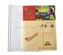 Acrylic book slipcase, Clear slipcase, Transparent slip case