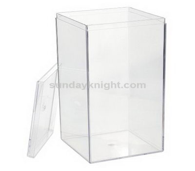 Acrylic container with lid, Chinese factory direct wholesale