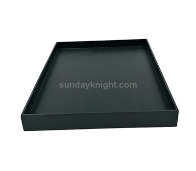 Acrylic food tray, Black acrylic food serving tray – Factory direct sale