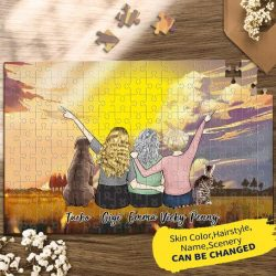 PERSONALIZED CUSTOM PUZZLES FOR FAMILY AND PETS STAY-AT-HOME