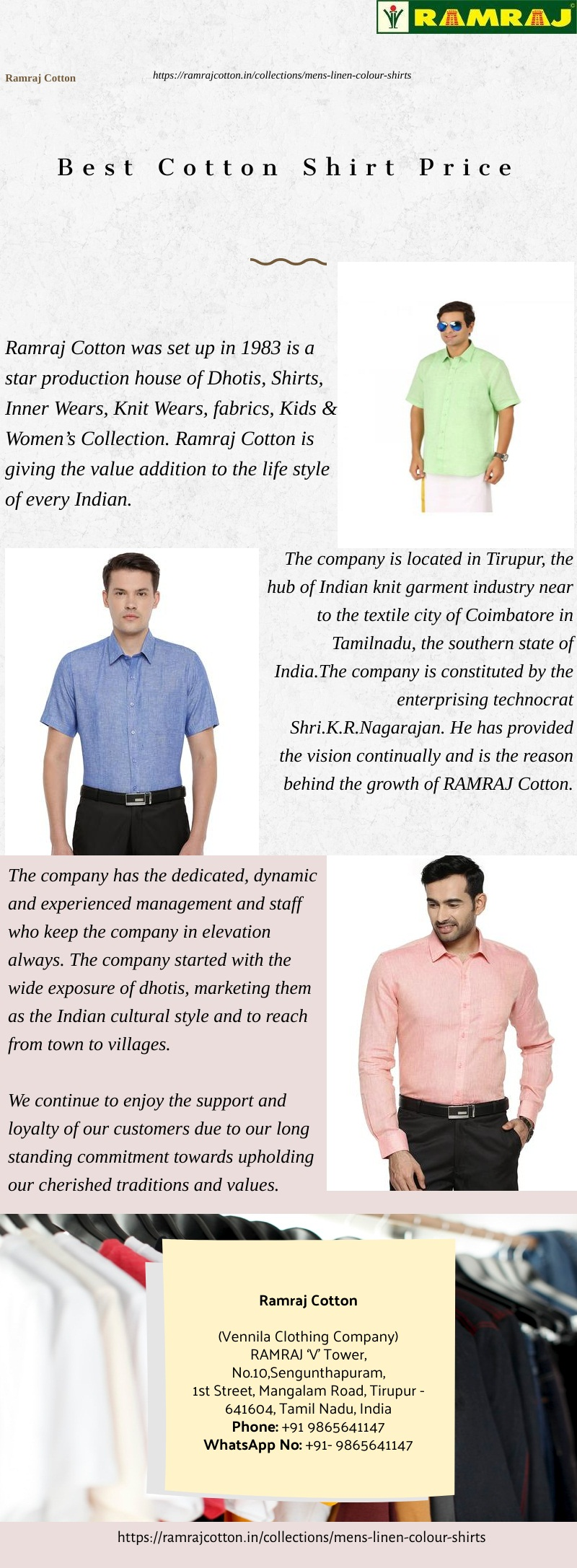 Ramraj Cotton White Shirts Online