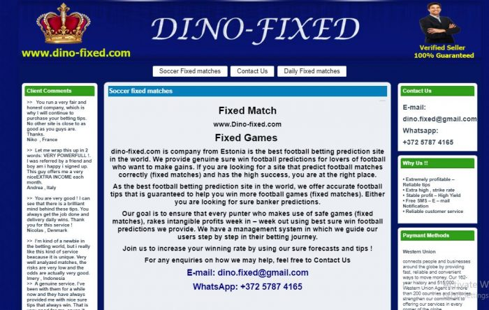 Best fixed matches