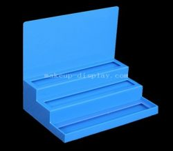 Blue makeup display, Blue acrylic cosmetic display