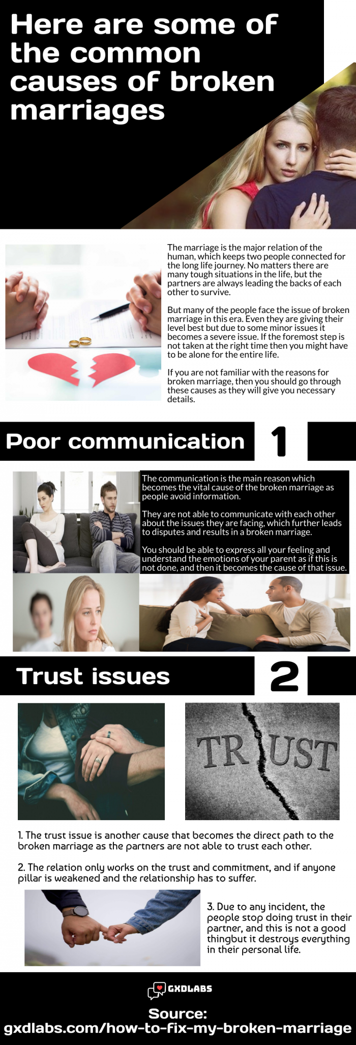 Look at these factors that are the main cause of broken marriage