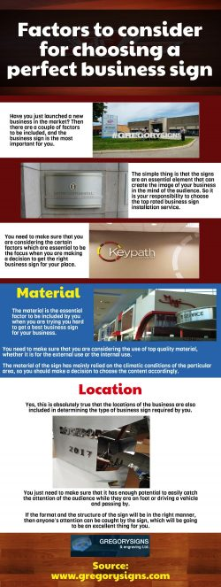 Designing and manufacturing of the signage should be of high end quality