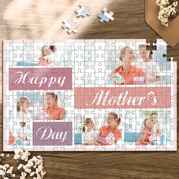 Custom Photo Jigsaw Puzzle Best Indoor Gifts For Mother's Day Party Games