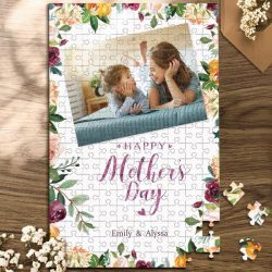 Custom Photo Jigsaw Puzzle Best Indoor Gifts For Mom And Grandma