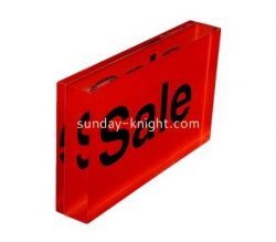 Custom acrylic block sign ABK-016
