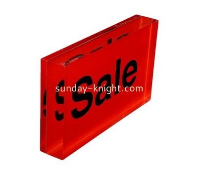 Custom acrylic block sign ABK-016