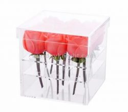 Custom acrylic flower rose box – China factory direct sale