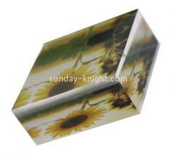 Custom acrylic UV printing block ABK-047
