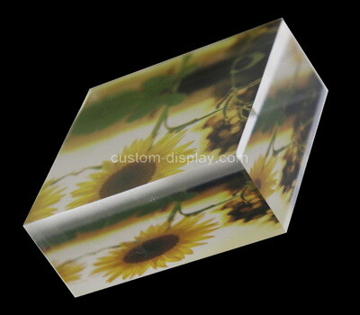 Custom acrylic UV printing display block, plexiglass display block