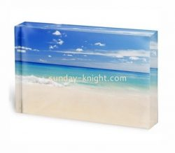 Custom acrylic UV printing photo block ABK-029