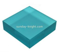 Custom blue acrylic display block ABK-030