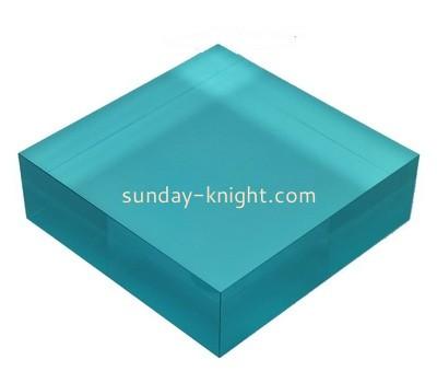 Custom blue acrylic display block ABK-030