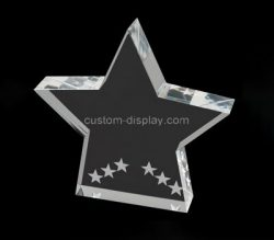 Custom clear acrylic star, plexiglass 3D star, acrylic laser cutting block