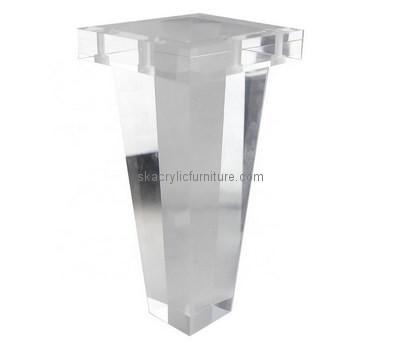 Custom clear acrylic table leg AL-023