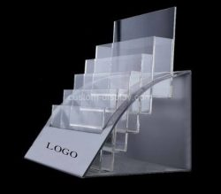 Custom countertop multi tiered acrylic literature holders