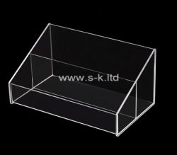 Custom 2 grids acrylic display holder, clear perspex display holder