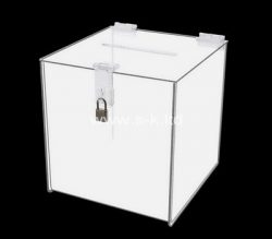 Custom lockable acrylic donation box, perspex suggestion box