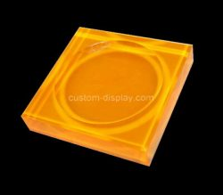 Custom orange acrylic soap dish block, perspex soap dish block