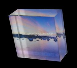 Custom plexiglass UV printing block, acrylic display block