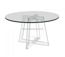 Custom round clear acrylic dining table AT-755
