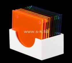 Custom 5 sided white acrylic display case, plexiglass display case