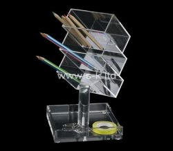 Custom table top acrylic pen holder, perspex pen holder