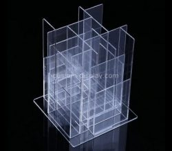 Custom table top 4 sided acrylic literature holders, lucite brochure holders