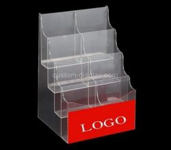 Custom table top 4 tiered acrylic leaflet holders, perpsex brochure holders