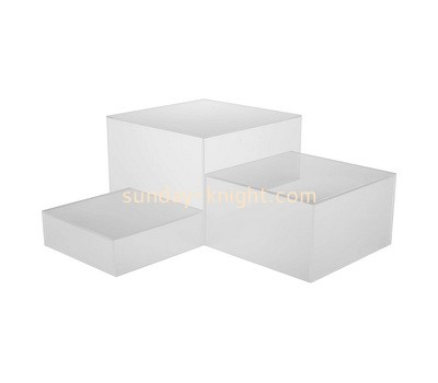 Custom tiered acrylic dipslay block ABK-015