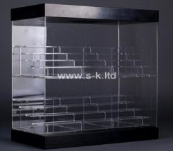 Custom 8 tiered acrylic display cabinet, perspex display cabinet
