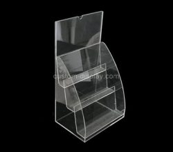 Custom 3 tiered acrylic literature holders, perspex brochure holders