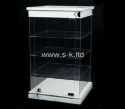 Custom 4 tiered acrylic locking cabinet, plexiglass cabinet