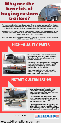 Custom trailers-One of the perfect service for you