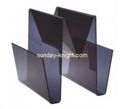 Custom W shape acrylic magazine holders BHK-785