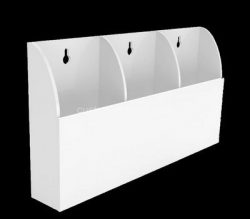 Custom wall 3 pockets acrylic literature holders, lucite brochure holders
