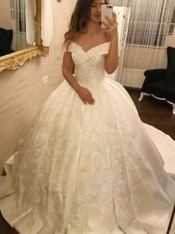 Elegante Hochzeitskleider Prinzessin | Satin Brautkleider Günstig Schlicht