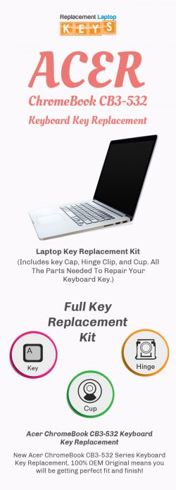 Get Quality Acer R751T ChromeBook Keyboard Keys from Replacement Laptop Keys