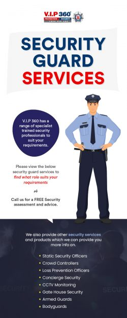 Get Security Guard & VIP Protection Service from VIP 360