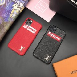 シュプリーム iPhone 11Pro/11ケース 大人気 LV シュプリーム コラボ IPHONE 11Pro Maxカバー ジャケット型