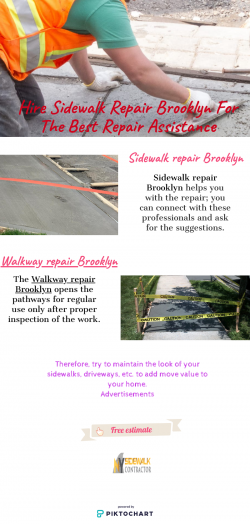 Qualified Sidewalk Repair Contractor in NYC