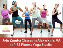 Join Zumba Classes in Alexandria, VA at PIES Fitness Yoga Studio