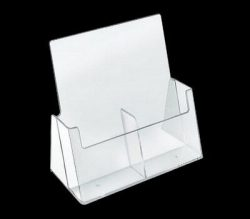 Literature holder stand, Clear acrylic literature holder stand