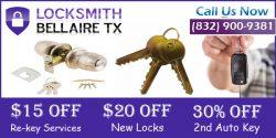 Locksmith Bellaire TX 832-900-9381